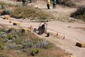 "Georgia Tech Student-built; Off-road race car ""in action"" at the SAE Competition"