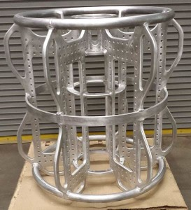 Aluminum frame of underwater buoy- Before heat treating