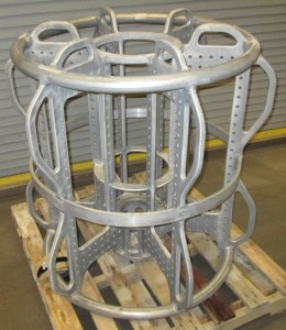 Aluminum frame After heat treating