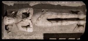 Effigy of Sir John Cressy, from which most of the details of his armor came from. Photography by Cameron Newham.