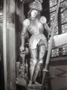 St Florian statue in Germany on which the armor is modeled